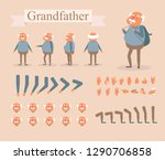 grandfather for animation.... | Shutterstock .eps vector #1290706858