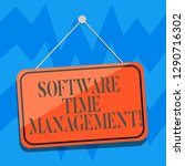 text sign showing software time ...   Shutterstock . vector #1290716302