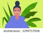 young millennial character... | Shutterstock .eps vector #1290717028