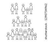 happy family symbol.... | Shutterstock .eps vector #1290734962