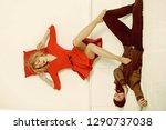 sleep pose of couple. sleep... | Shutterstock . vector #1290737038