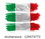 italy. italian flag  painted... | Shutterstock . vector #129073772