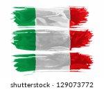 italy. italian flag  painted... | Shutterstock . vector #129073772