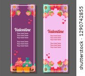 valentine vertical banner with... | Shutterstock .eps vector #1290742855