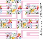 ornament floral botanical... | Shutterstock . vector #1290747382