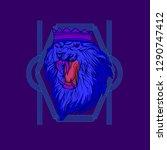 the lion head | Shutterstock .eps vector #1290747412