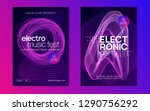 music poster. dynamic gradient... | Shutterstock .eps vector #1290756292