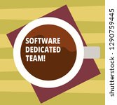 text sign showing software...   Shutterstock . vector #1290759445