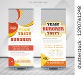 food   restaurant roll up... | Shutterstock .eps vector #1290761248