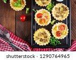 mushrooms  cheddar  tomatoes...   Shutterstock . vector #1290764965