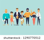 business characters  team ... | Shutterstock .eps vector #1290770512