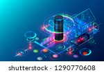 iot isometric technology... | Shutterstock . vector #1290770608