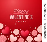 valentines day background .... | Shutterstock .eps vector #1290780292