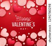 valentines day background .... | Shutterstock .eps vector #1290780298