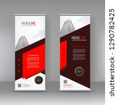 vertical banner stand template... | Shutterstock .eps vector #1290782425