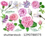 larger set of flowers ... | Shutterstock . vector #1290788575