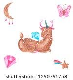 a set of watercolor... | Shutterstock . vector #1290791758