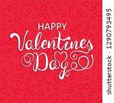 happy valentines day... | Shutterstock .eps vector #1290793495