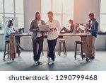 sharing opinions. full length... | Shutterstock . vector #1290799468