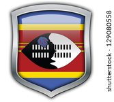 shield with flag inside  ... | Shutterstock . vector #129080558