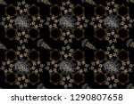 golden element on black and... | Shutterstock . vector #1290807658