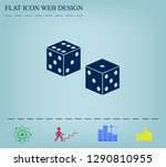 cubes for the game vector icon. | Shutterstock .eps vector #1290810955