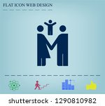 family image  parents and child ... | Shutterstock .eps vector #1290810982