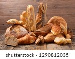 assorted bread and pastry | Shutterstock . vector #1290812035
