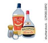 set of salad dressings  ... | Shutterstock .eps vector #1290813892