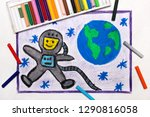 colorful drawing  happy... | Shutterstock . vector #1290816058