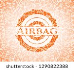 airbag abstract orange mosaic... | Shutterstock .eps vector #1290822388
