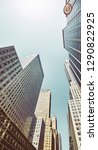looking up at manhattan... | Shutterstock . vector #1290822925