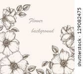 Vintage Flower Background....