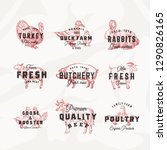 retro cattle and poultry vector ... | Shutterstock .eps vector #1290826165