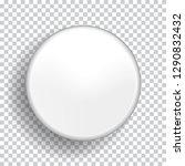 blank white badge isolated on... | Shutterstock .eps vector #1290832432