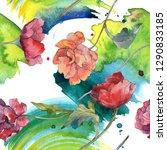 red poppy floral botanical... | Shutterstock . vector #1290833185
