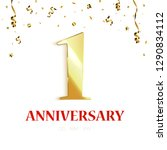 anniversary background design... | Shutterstock .eps vector #1290834112