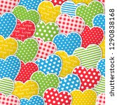 love seamless pattern with... | Shutterstock .eps vector #1290838168