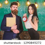 discipline concept. man with... | Shutterstock . vector #1290845272