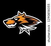 wolf esport gaming mascot logo... | Shutterstock .eps vector #1290858355