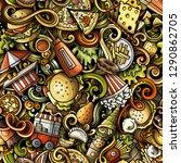 fastfood hand drawn doodles... | Shutterstock .eps vector #1290862705