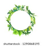 green grass  leaves. floral... | Shutterstock . vector #1290868195
