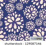 simple seamless doodle pattern | Shutterstock .eps vector #129087146