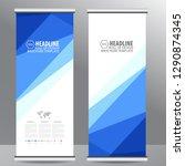 roll up business brochure flyer ...   Shutterstock .eps vector #1290874345