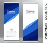 roll up business brochure flyer ...   Shutterstock .eps vector #1290874372