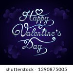 happy valentines day romantic... | Shutterstock .eps vector #1290875005