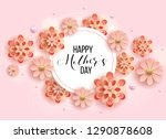 happy mother's day layout... | Shutterstock .eps vector #1290878608