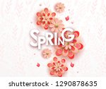 spring season sale offer ... | Shutterstock .eps vector #1290878635