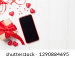 valentine's day greeting card... | Shutterstock . vector #1290884695
