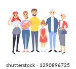 set of different caucasian... | Shutterstock .eps vector #1290896725